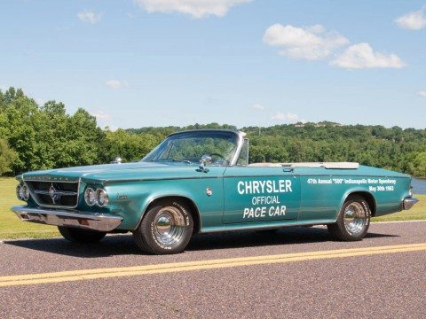 1963 Chrysler 300 Pacesetter Convertible, Rare Indy 500 Pace Car. 1 of 1861 for sale