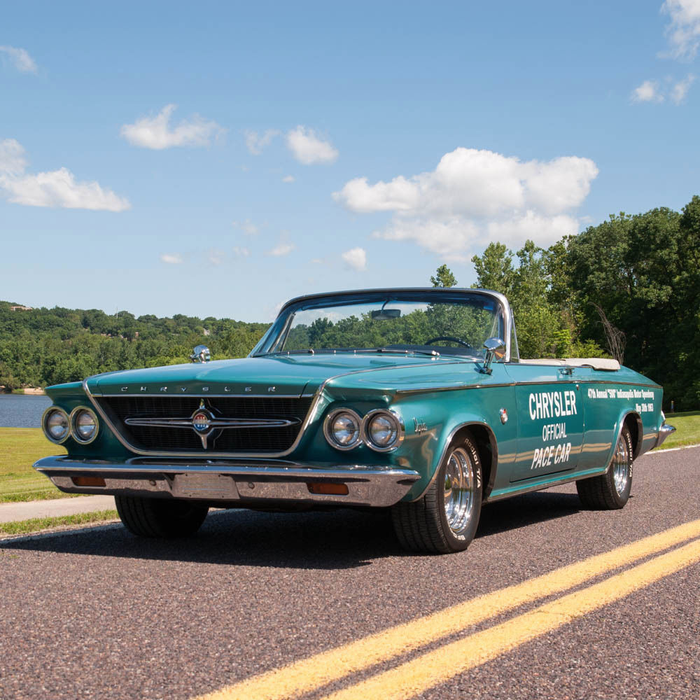 1963 chrysler 300 pacesetter convertible rare indy 500 pace car 1 of 1861 for sale. Black Bedroom Furniture Sets. Home Design Ideas