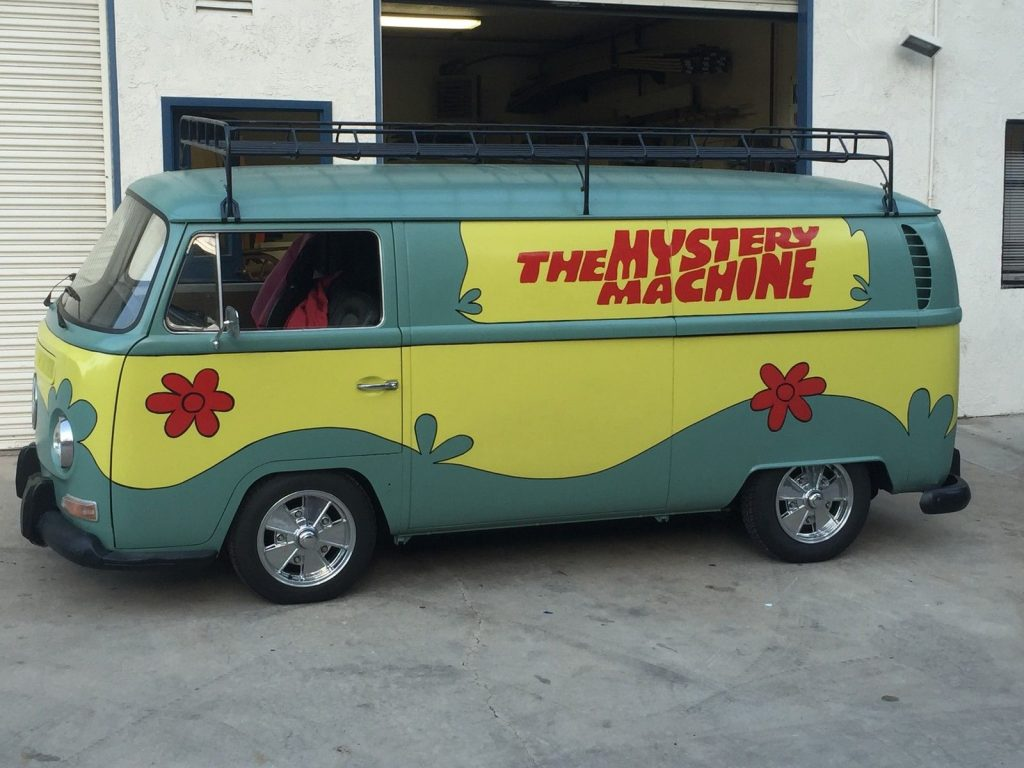 1970 vw mystery machine custom tiki van for sale. Black Bedroom Furniture Sets. Home Design Ideas