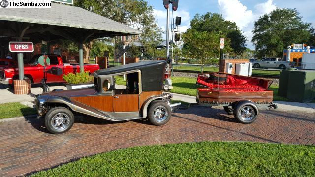 crazy 1984 california munster car and coffin trailer hot. Black Bedroom Furniture Sets. Home Design Ideas