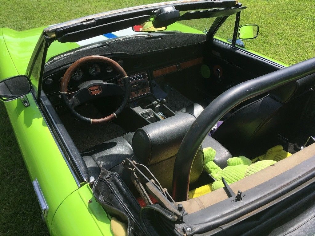 Crazy Green 1973 Jensen-Healey convertible